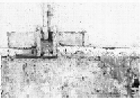 Grunge halftone vector ink background