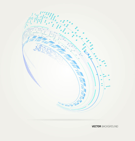 techincal: Abstract wave Vector shapes template.