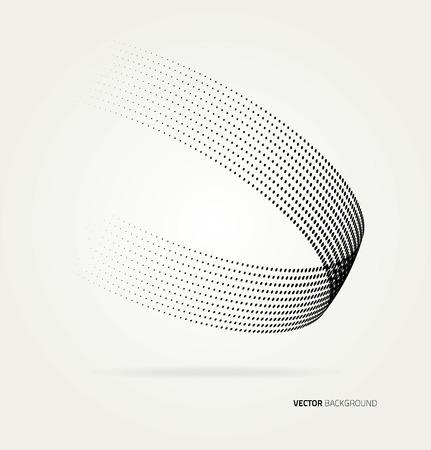 swirl background: Vector halftone dots.