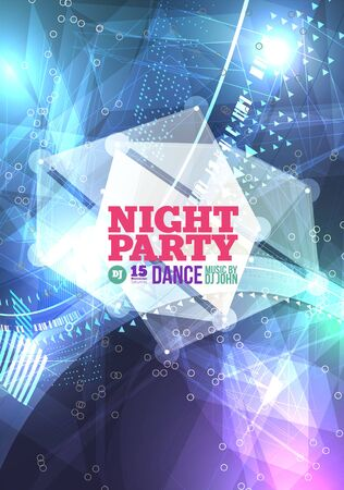 concert poster: Night party Vector