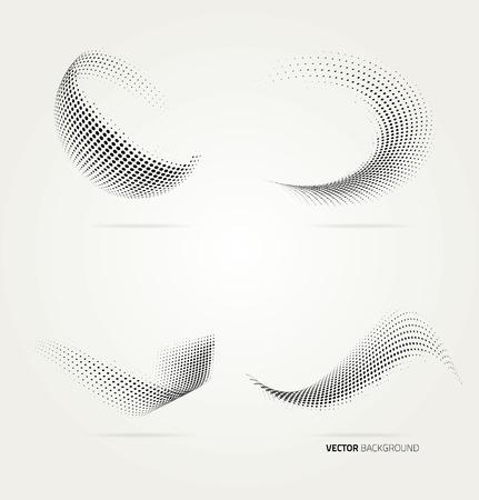 3d shape: Vector halftone dots.