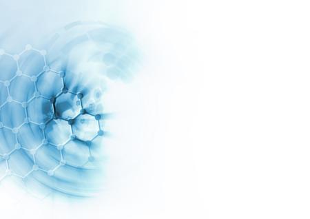 white atom: DNA molecule structure background.
