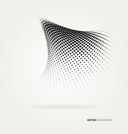 Vector halftone dots abstract background. Design template Banco de Imagens - 41727384
