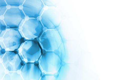 DNA の分子構造の背景。抽象的なぼかしの図