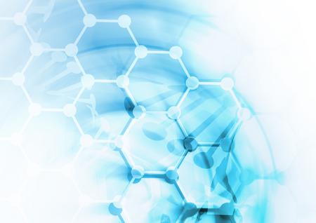 biologia: ADN estructura de la mol�cula de fondo. Ilustraci�n abstracta de desenfoque