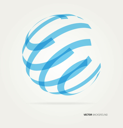 Abstract image of a globe lines. Vector Stok Fotoğraf - 42034043