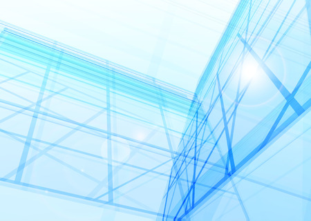 pane: Abstract building from the lines. Vector illustration