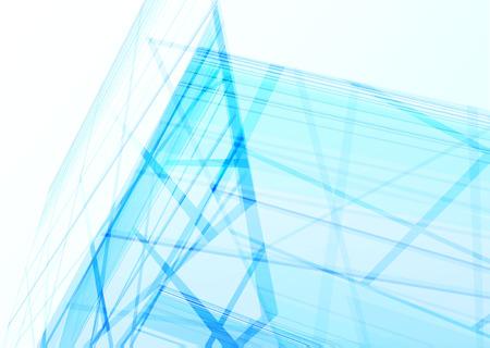 線から建物を抽象化します。ベクトル図  イラスト・ベクター素材