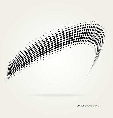 Vector halftone dots abstract background. Design template Vectores