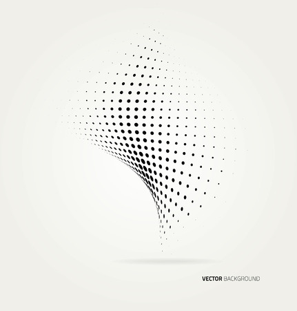 dot pattern: Vector halftone dots abstract background. Design template Illustration