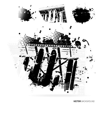 fabricate: Vector grunge background with blots. Template design
