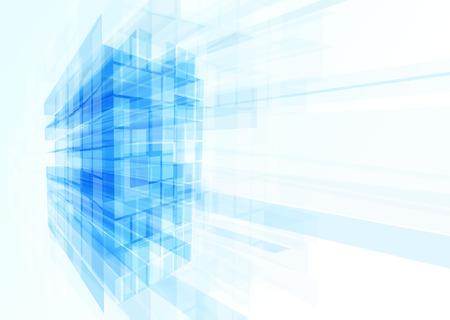 Edificio abstracto de las líneas. Ilustración vectorial Foto de archivo - 43561673