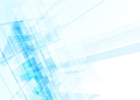Abstraktes Gebäude von den Linien. Vektor-Illustration Vektorgrafik