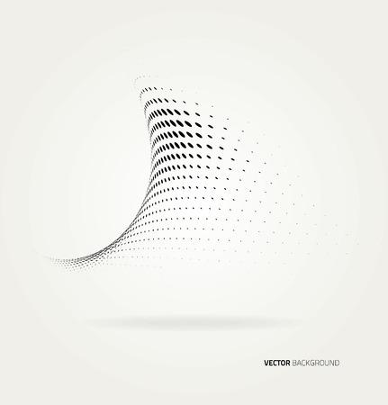 Vector halftone dots abstract background. Design template Ilustração