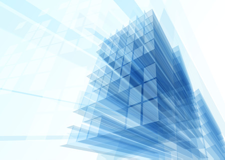 reflection internet: Abstract building from the lines. Vector illustration