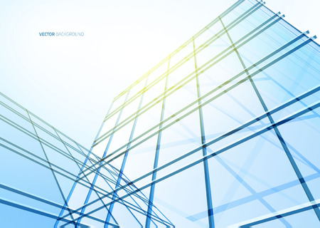 reverberation: Abstract building from the lines. Vector illustration