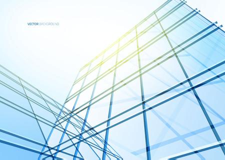 edificio: Edificio abstracto de las líneas. Ilustración vectorial