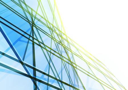glasscheibe: Zusammenfassung Gebäude aus den Leitungen. Vektor-Illustration Lizenzfreie Bilder