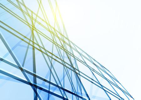 construccion: Edificio abstracto de las l�neas. Ilustraci�n vectorial