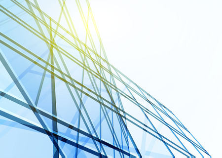 gebäude: Zusammenfassung Gebäude aus den Leitungen. Vektor-Illustration Illustration