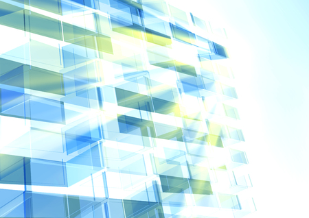 panes: Abstract building from the lines. Vector illustration