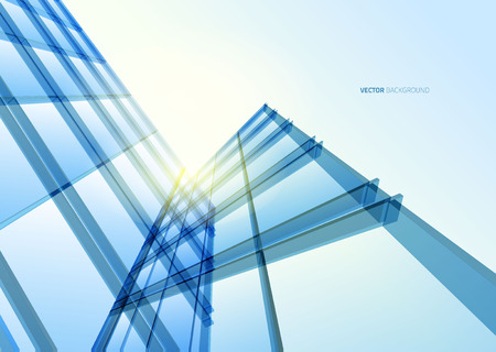 steel background: Abstract building from the lines. Vector illustration