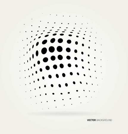 abstract grunge: Vector halftone dots abstract background. Design template Illustration