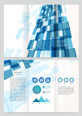 Abstract business Vector Brochure Template. illustration design