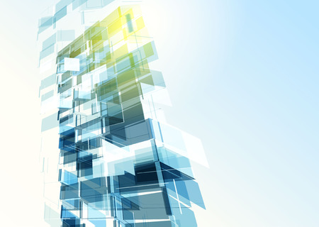Abstract building from the lines. Vector illustration