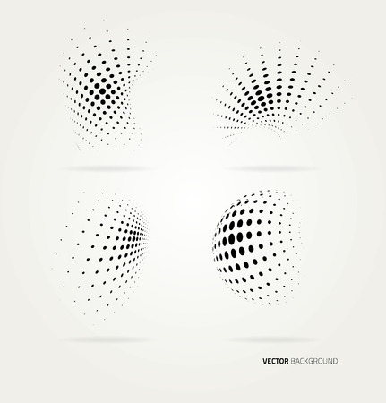 halftone dots: Vector halftone dots abstract background. Design template Illustration
