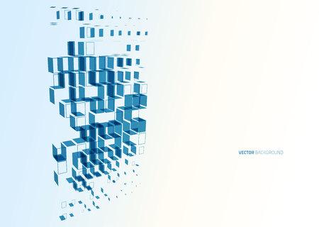 La tecnología de negocios azul resumen cuadrados de colores de fondo vector Foto de archivo - 44471900
