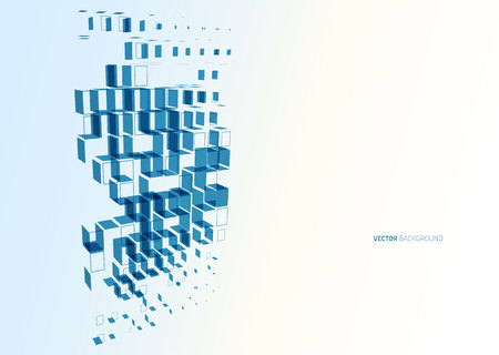 Abstract blue business technology colorful squares vector background