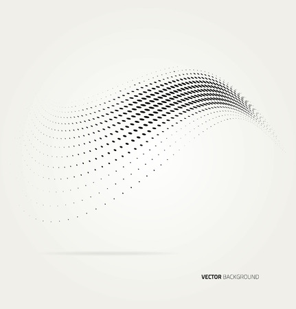 halftone cover: Vector halftone dots abstract background. Design template Illustration