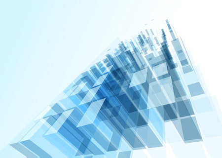 blue glass: Modern blue glass wall of office building. Vector Illustration