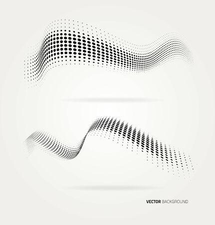 marcos decorativos: Vector de los puntos a media tinta de fondo abstracto. Plantilla de diseño