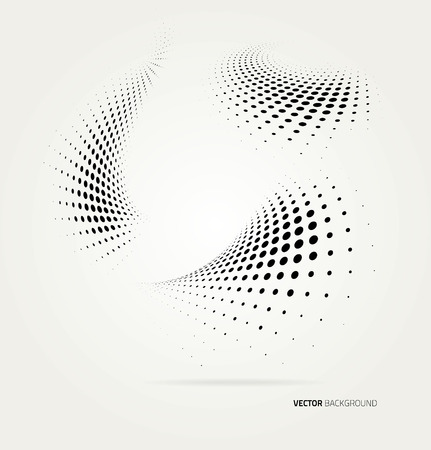 Vector halftone dots abstract background. Design template  イラスト・ベクター素材