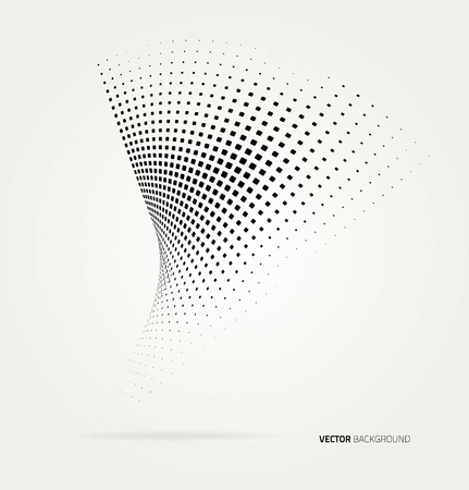 Vector halftone dots abstract background. Design template Ilustração