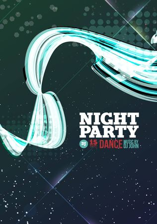 party night: Night party Vector Flyer Template. Template design