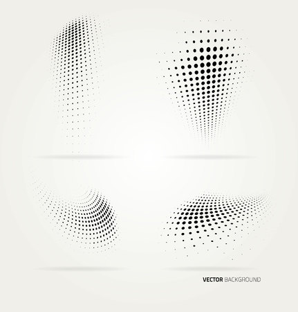Vector halftone dots abstract background. Design template Ilustrace