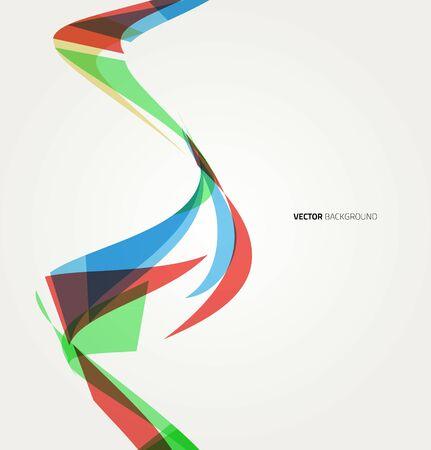 абстрактный: Абстрактный красочный фон с волны, иллюстрации, вектор