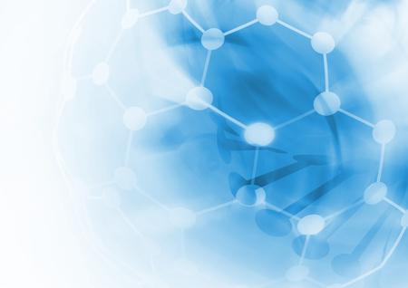 simbolo medicina: ADN estructura de la molécula de fondo. Ilustración abstracta de desenfoque