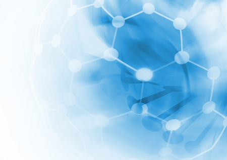 futuristic background: DNA molecule structure background. Abstract blur illustration