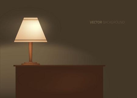lamp op de tafel. Vector illustratie. Vector Illustratie