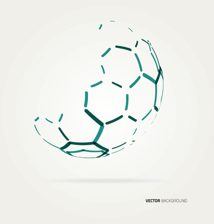 techincal: Abstract color sphere hexagons template. Vector illustration