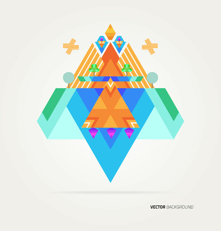 elements of nature: Nature of geometric elements. Vector. Template design