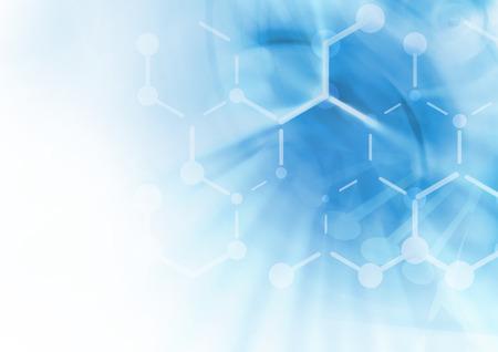 symbole chimique: ADN structure mol�culaire fond. R�sum� flou illustration