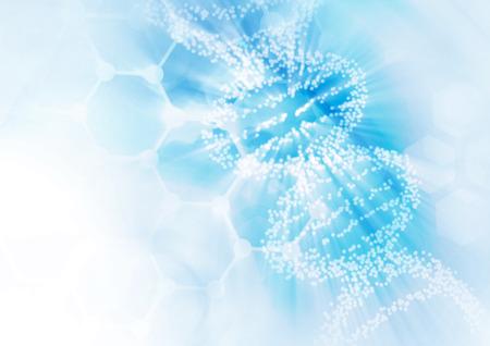 medicamentos: ADN estructura de la molécula de fondo. Ilustración abstracta de desenfoque