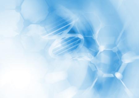 molecula: ADN estructura de la molécula de fondo. Ilustración abstracta de desenfoque