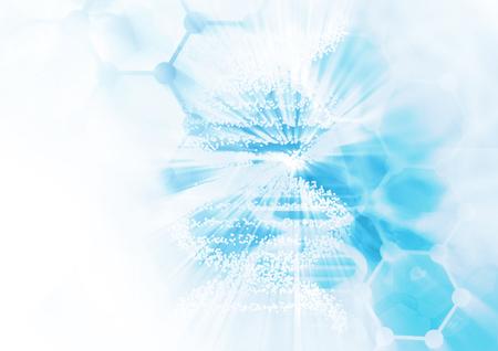DNA molecule structure background. Abstract blur illustration Zdjęcie Seryjne - 46622388