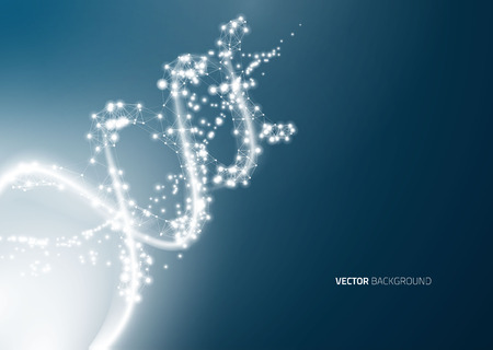 abstrakcje: DNA molecule structure background. Abstract blur illustration